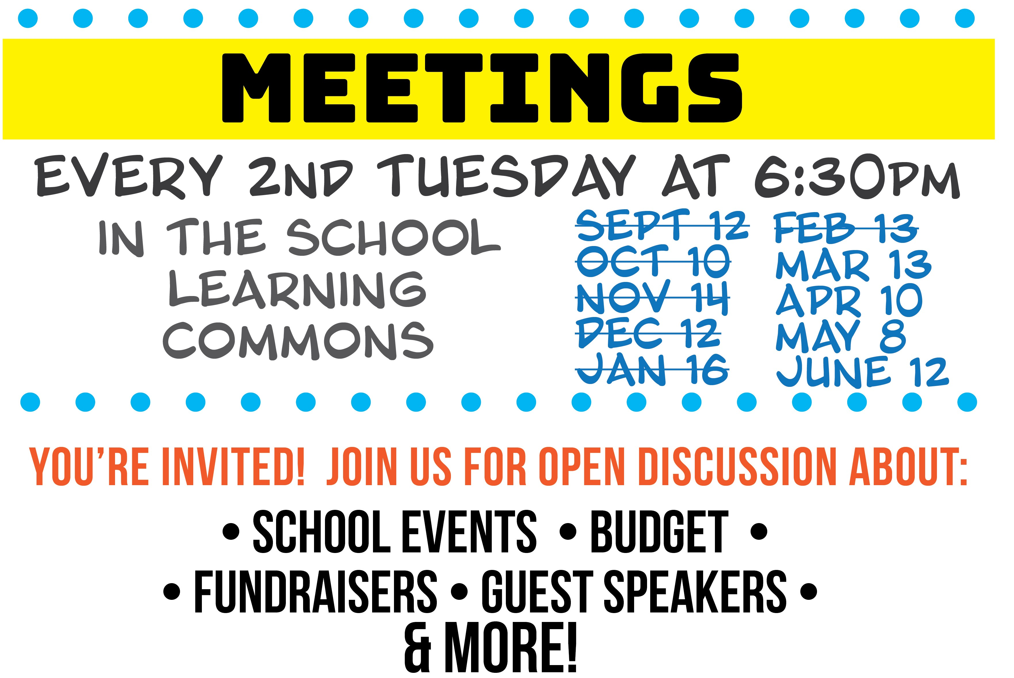 Pac Meeting Dates (also available on school public calendar)