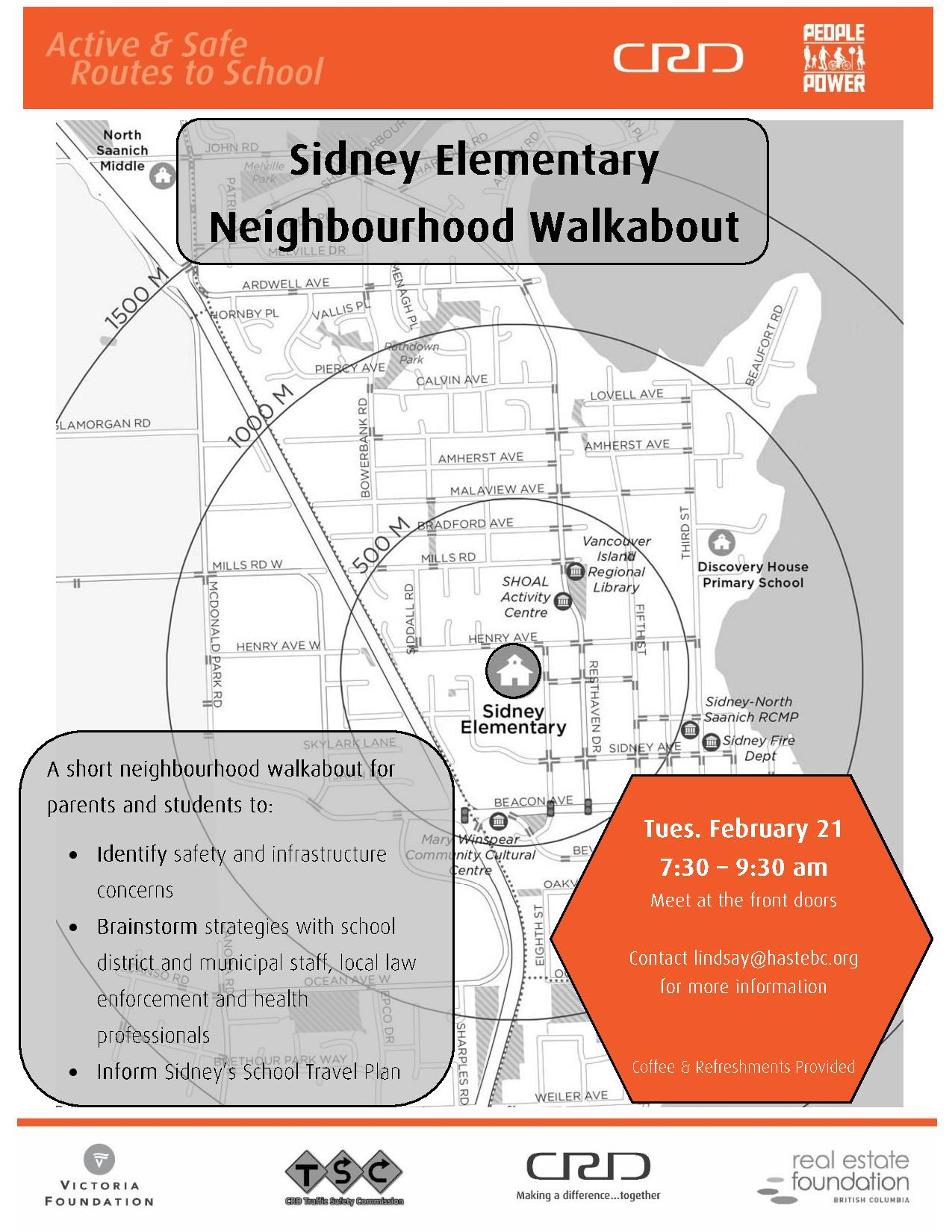 Sidney sidney elementary neighbourhood walkabout active safe hope to see you there ccuart Choice Image